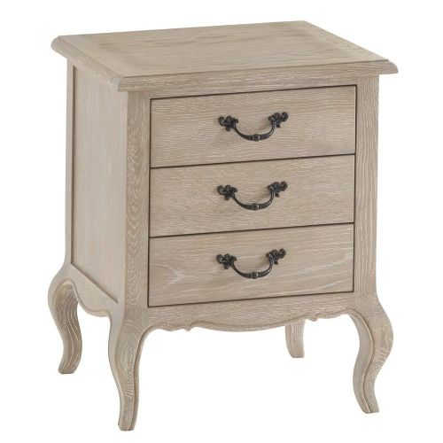 French 3 Drawer Bedside